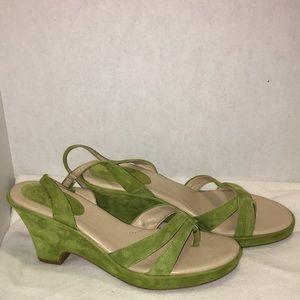 Easy spirit comfort 2 size 10m green wedge sandal